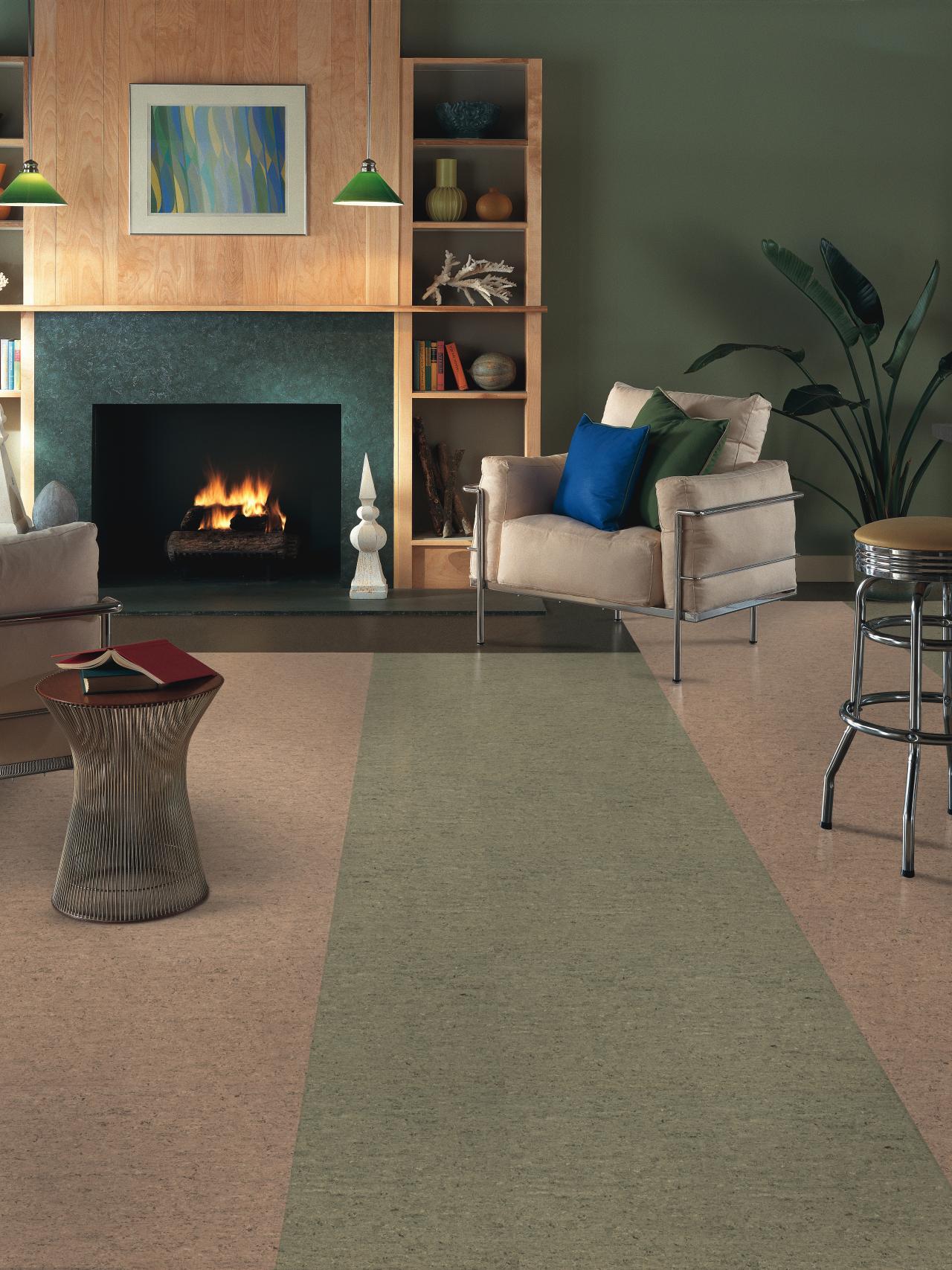 Linoleum floors home remodeling ideas for basements for Modern linoleum flooring