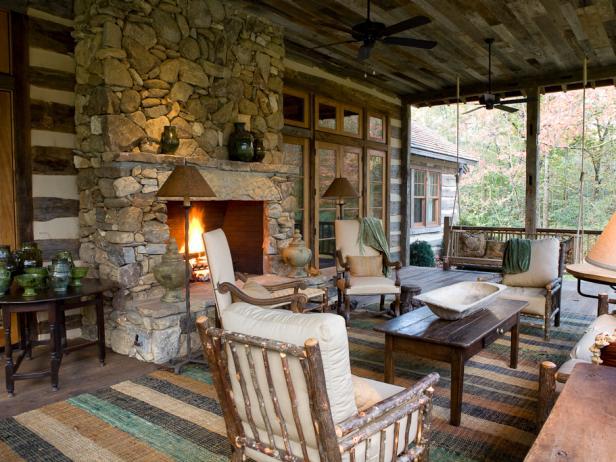 Outdoor design landscaping ideas porches decks patios hgtv Outdoor room design ideas home